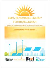 100% Renewable Energy For Bangladesh - Summary for policy makers